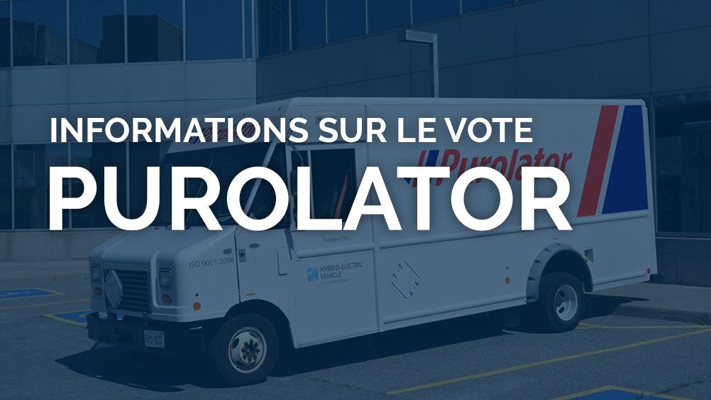 infos sur le vote purolator