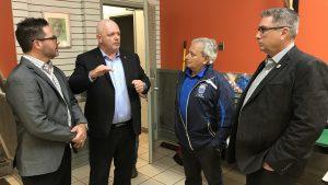 Accueil Bonneau, Teamsters Canada, Eric Laramee, Gerry Boutin, Michel Heroux