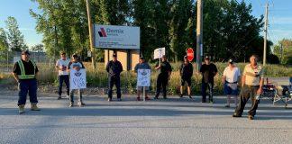 Piquets de grève Demix Agrégats Juillet 2020