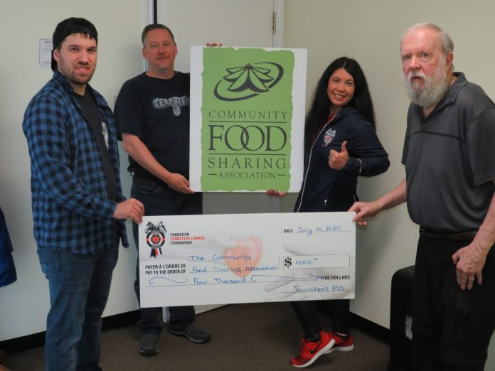 Teamsters Canada Donation to Community Food Sharing Association